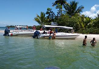 Península de Maraú – Taipu de Fora via Camamu (lancha) - Saída de Itacaré