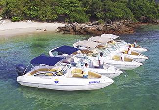 Passeio de lancha compartilhada - roteiro Ilhas Paradisíacas