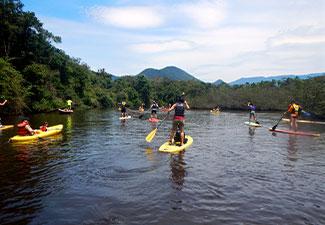 Remada Stand Up Padle no Rio Quiririm