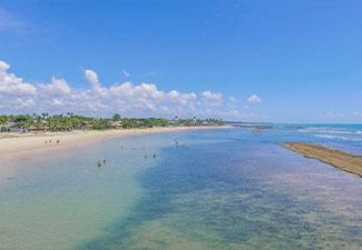 Arraial d'Ajuda - Praia do Mucugê - Saída de Cabrália ou Coroa Vermelha