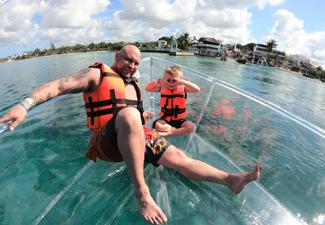 Barco Transparente em Cozumel