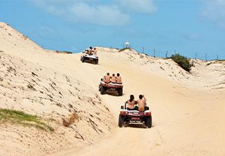 COMBO - Transfer de Chegada e Saída + City Tour Panorâmico com Cumbuco + Beach Park (sem ingresso) - Hotéis na Orla de Fortaleza - 6 dias